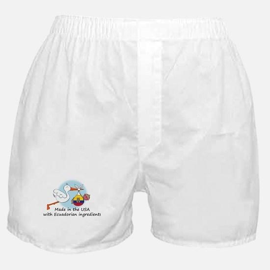 Stork Baby Ecuador USA Boxer Shorts