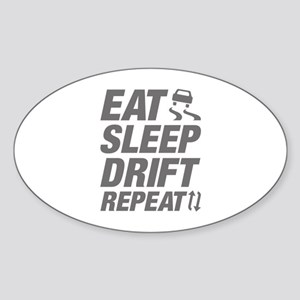 Eat Sleep Drift Repeat Sticker (Oval)