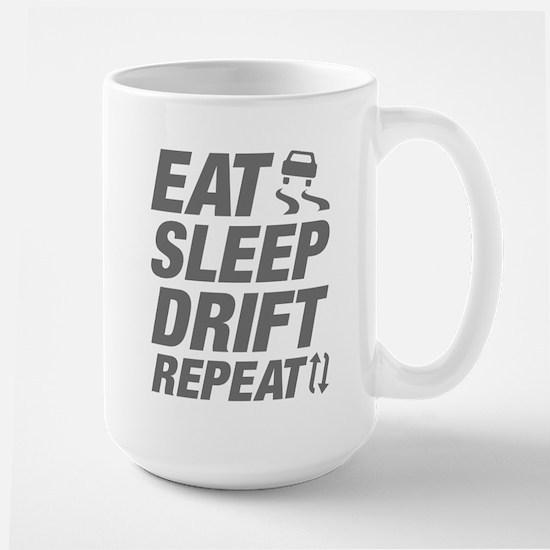 Eat Sleep Drift Repeat Large Mug