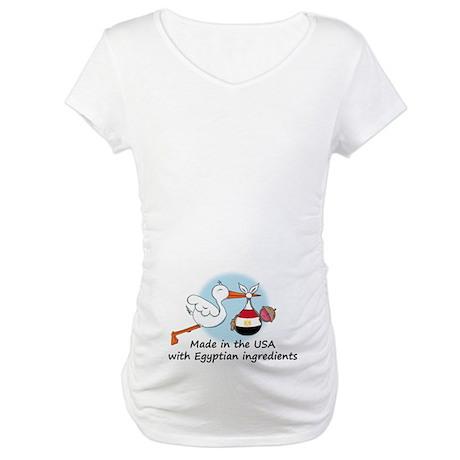 Stork Baby Egypt USA Maternity T-Shirt