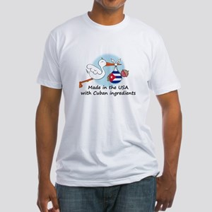 Stork Baby Cuba USA Fitted T-Shirt