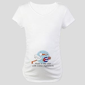 Stork Baby Cuba USA Maternity T-Shirt