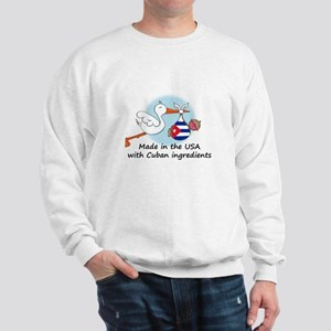 Stork Baby Cuba USA Sweatshirt