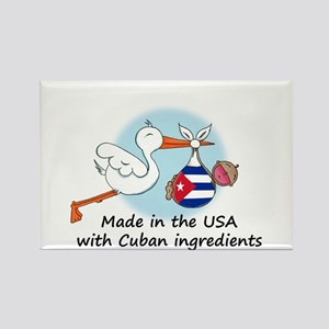 Stork Baby Cuba USA Rectangle Magnet