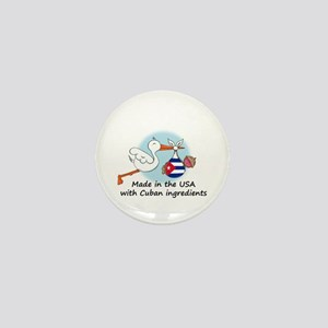 Stork Baby Cuba USA Mini Button