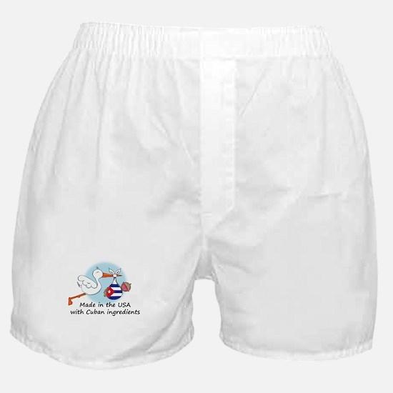 Stork Baby Cuba USA Boxer Shorts