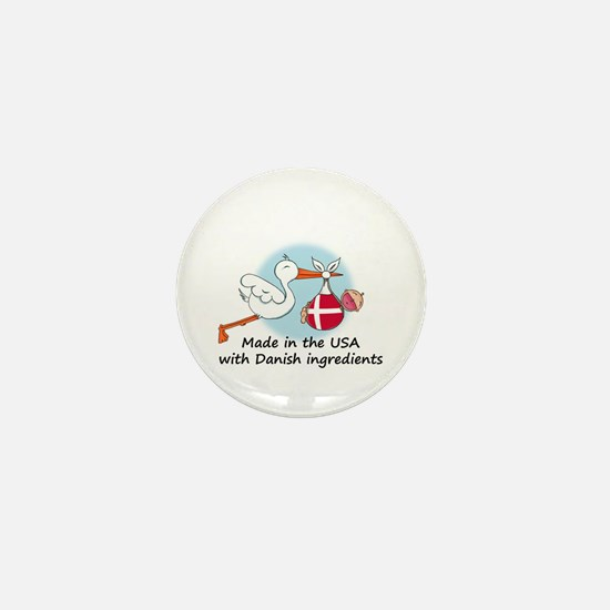 Stork Baby Denmark USA Mini Button