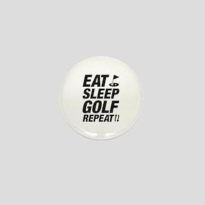Eat Sleep Golf Repeat Mini Button