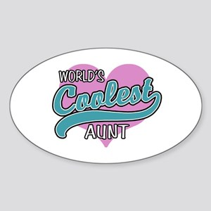 World's Coolest Aunt Sticker (Oval)