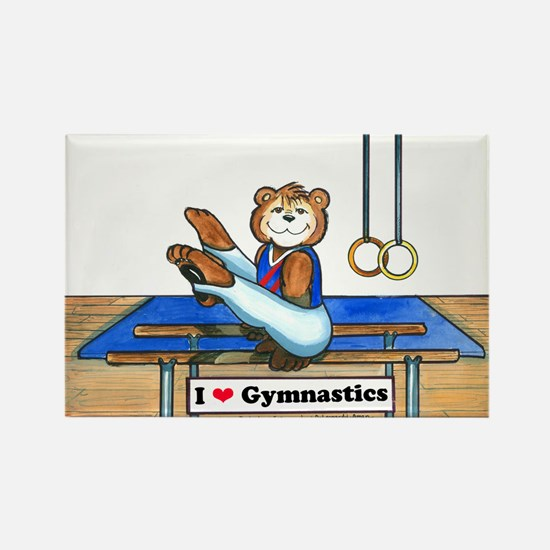 Male Gymnast Rectangle Magnet