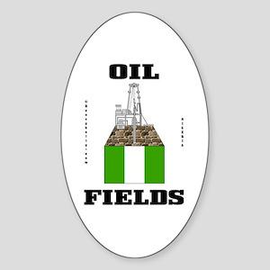 Nigeria Oil Fields Sticker (Oval)Decal,Oil,Gas