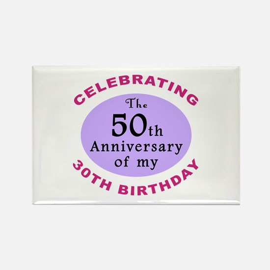 Funny 80th Birthday Gag Rectangle Magnet (10 pack)
