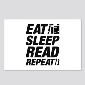 Eat Sleep Read Repeat Postcards (Package of 8)