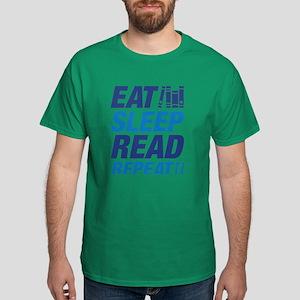 Eat Sleep Read Repeat Dark T-Shirt