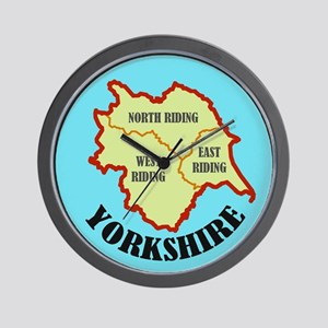 Yorkshire Map Wall Clock