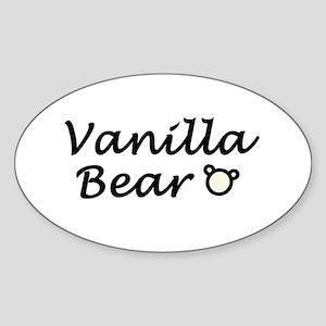 'Vanilla Bear' Sticker (Oval)