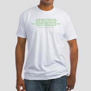 Yeats Faery Quote Fitted T-Shirt