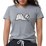 Joshua Trees and Intersec Womens Tri-blend T-Shirt