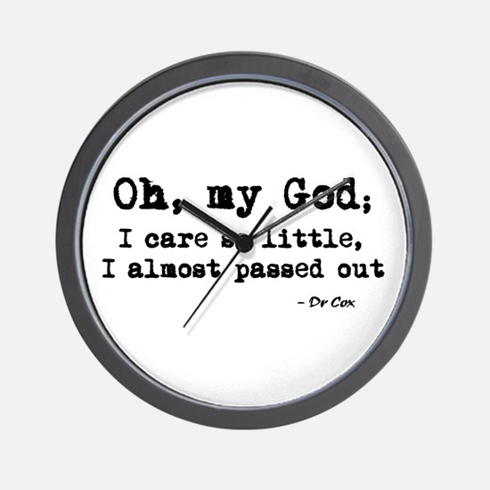 'Scrubs - Dr Cox Quote' Wall Clock