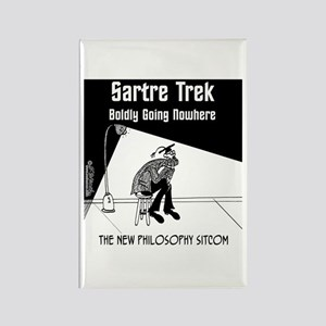 Sartre Trek Rectangle Magnet