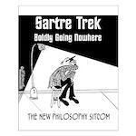 Sartre Trek Small Poster