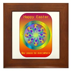 HAPPY EASTER Framed Tile