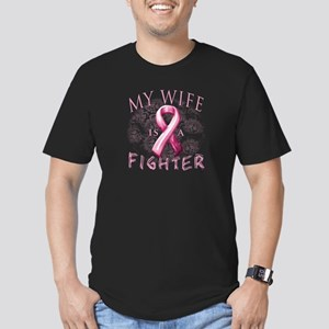 My Wife Is A Fighter Men's Fitted T-Shirt (dark)