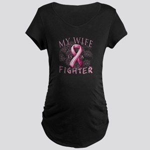 My Wife Is A Fighter Maternity Dark T-Shirt
