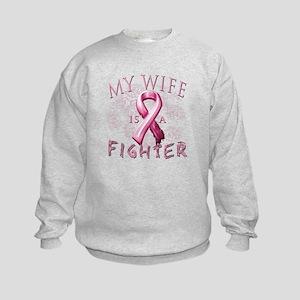 My Wife Is A Fighter Kids Sweatshirt
