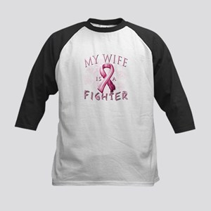 My Wife Is A Fighter Kids Baseball Jersey
