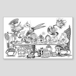 Alice's Unbirthday Party Sticker (Rectangle)