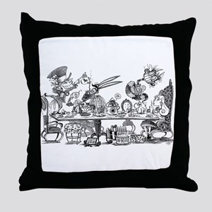 Alice's Unbirthday Party Throw Pillow