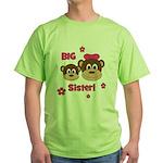 I'm The BIG Sister - Monkey Green T-Shirt
