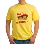 I'm The BIG Sister - Monkey Yellow T-Shirt