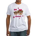 I'm The BIG Sister - Monkey Fitted T-Shirt