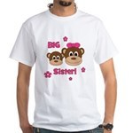 I'm The BIG Sister - Monkey White T-Shirt