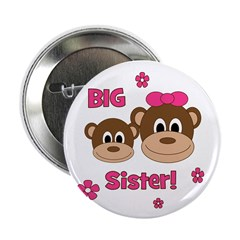 "I'm The BIG Sister - Monkey 2.25"" Button"