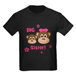 I'm The BIG Sister - Monkey Kids Dark T-Shirt