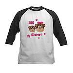 I'm The BIG Sister - Monkey Kids Baseball Jersey