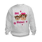I'm The BIG Sister - Monkey Kids Sweatshirt