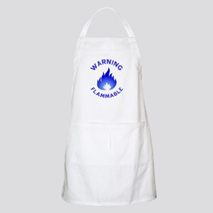 Flammable Warning (blue) Apron