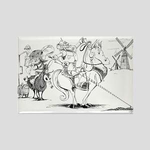 Don Quixote Rectangle Magnet