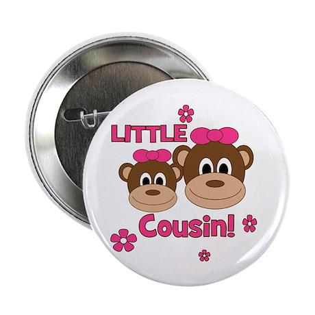 """I'm The Little Cousin! Monkey 2.25"""" Button"""
