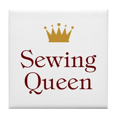 Sewing Queen Tile Coaster