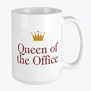 Queen Of The Office Large Mug