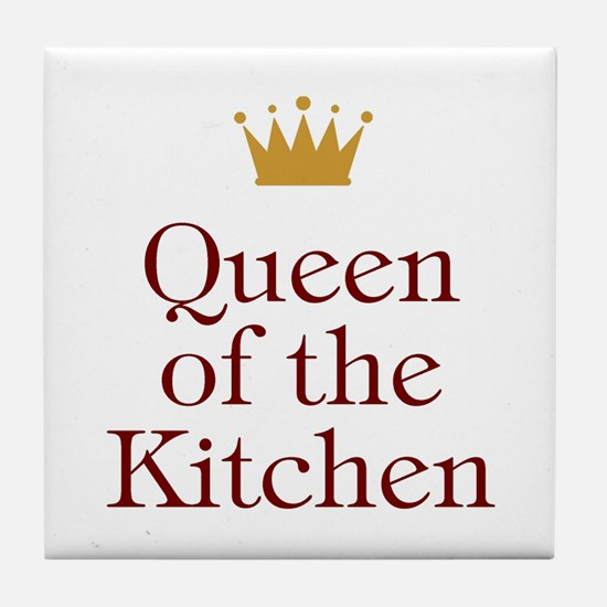Queen of the Kitchen Tile Coaster