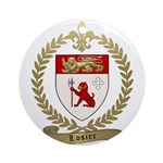 LOSIER Family Crest Ornament (Round)