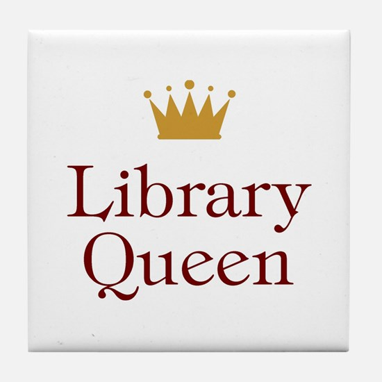 Library Queen Tile Coaster