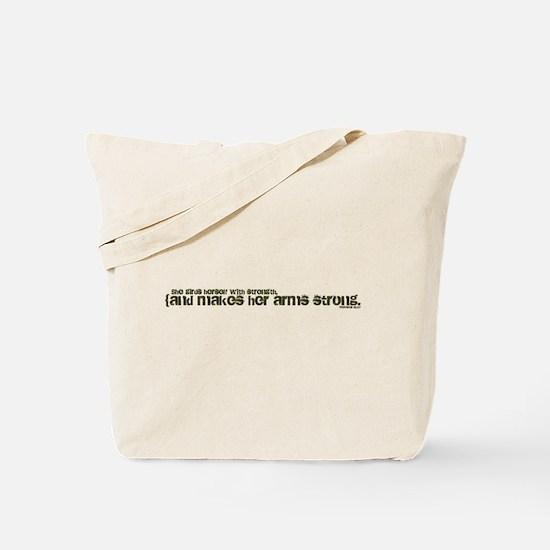 Parenthetical Proverbs Woman Tote Bag