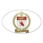 LOZIER Family Crest Sticker (Oval)
